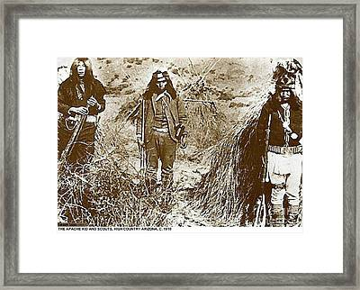 Apache Young Braves,  1900 Framed Print