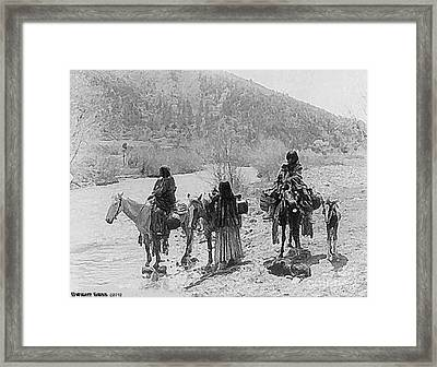 Apaches On The Move, 1903 Framed Print