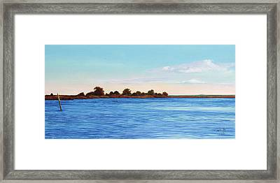 Apalachicola Bay Autumn Morning Framed Print