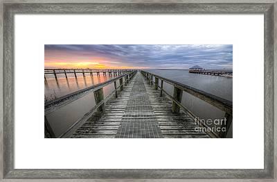 Apalachicola Boardwalk 2x1 Panorama Framed Print