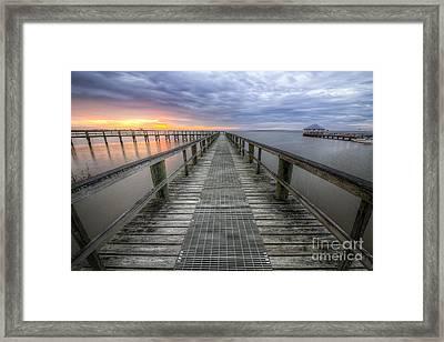Apalachicola Boardwalk Framed Print