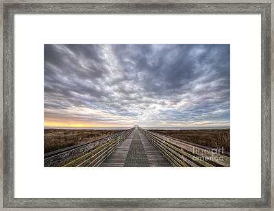 Apalachicola Morning Sky Framed Print