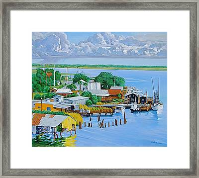Apalachicola Waterfront Framed Print by Neal Smith-Willow