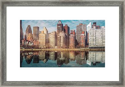 Apartment Blocks  Framed Print