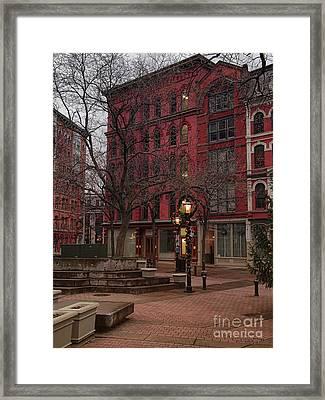 Apartment Building Framed Print by Debra Millet