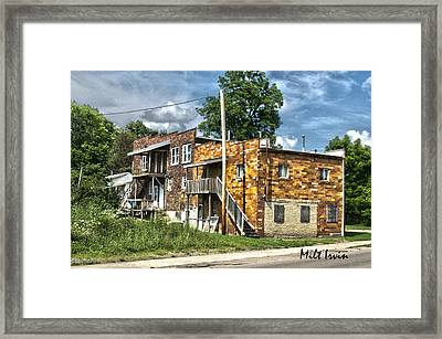Apartment Building Framed Print by Milton Irvin