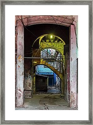 Framed Print featuring the photograph Apartment Enrance Havana Cuba Near Calle C by Charles Harden