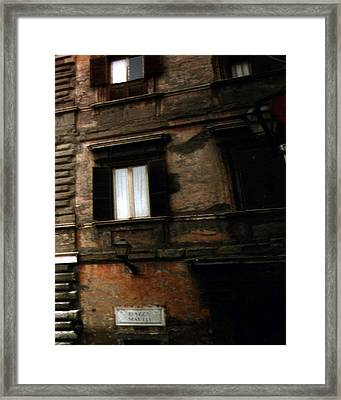 Apartment House On Piazza Mattei In Rome Framed Print by Merton Allen
