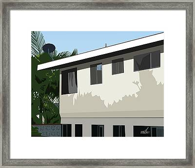 Apartment Shadows Framed Print