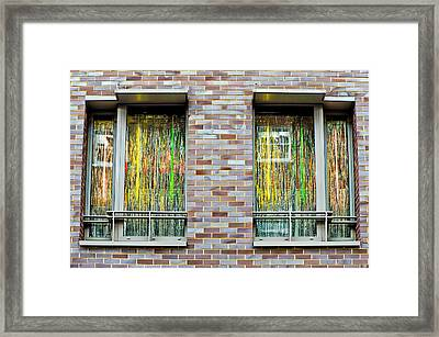 Apartment Window Framed Print by Tom Gowanlock