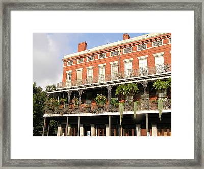 Apartments French Quarter Framed Print by Jack Herrington