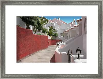 Apartments San Blas Tenerife Framed Print by Aleck Rich Seddon