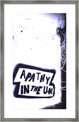 Apathy In The Uk Framed Print by Joshua Ackerman