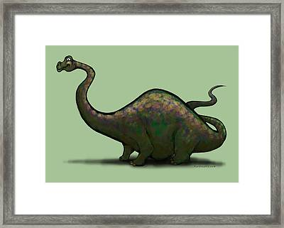 Apatosaurus  Framed Print by Kevin Middleton