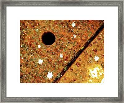 Aperture Framed Print by Tom Druin