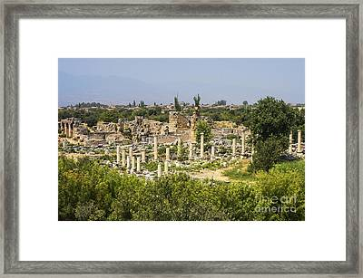 Aphrodisias And Hadrianic Baths Framed Print by Bob Phillips