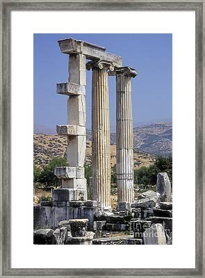 Aphrodisias Aphrodite Temple Framed Print by Bob Phillips
