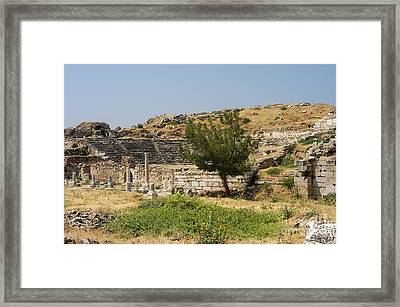 Aphrodisias Theater Ruins Framed Print by Bob Phillips