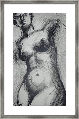 Aphrodite - Female Nude Framed Print by Carmen Tyrrell