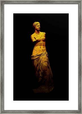 Aphrodite Of Milos Framed Print by Laura Greco