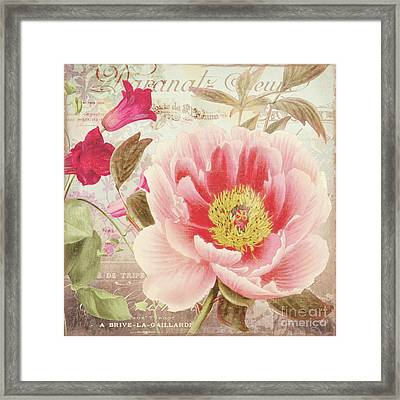 Aphrodite Peony Framed Print by Mindy Sommers