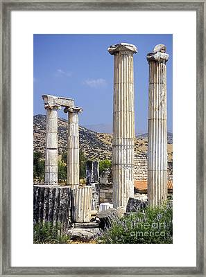Aphrodite Temple Ruins Framed Print by Bob Phillips