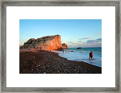 Aphrodites Rock Framed Print by Donald Buchanan