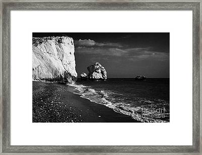Aphrodites Rock Petra Tou Romiou Republic Of Cyprus Framed Print by Joe Fox