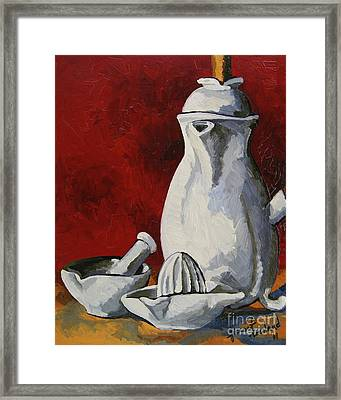 Framed Print featuring the painting Apilco No. 4 by Erin Fickert-Rowland