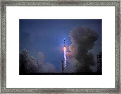 Apollo 11 Blasts Off On Mans First Framed Print by O. Louis Mazzatenta