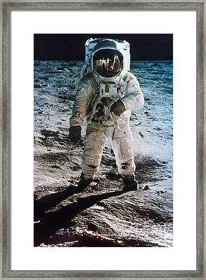 Apollo 11 Buzz Aldrin - To License For Professional Use Visit Granger.com Framed Print