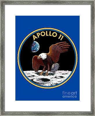 Apollo 11 Patch Framed Print
