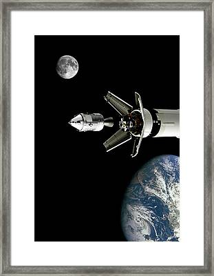 Apollo 11 - Transposition And Docking Framed Print by Smart Aviation Art