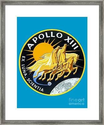 Apollo 13 Insignia Framed Print