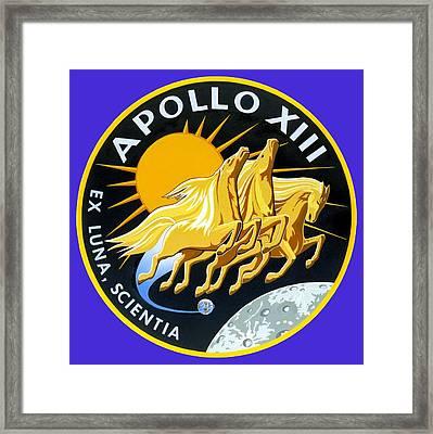 Apollo 13 Framed Print by Otis Porritt