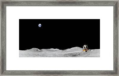 Apollo 15 Landing Site Panorama Framed Print