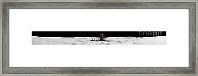 Apollo 16 Landing Site In The Lunar Framed Print by Stocktrek Images