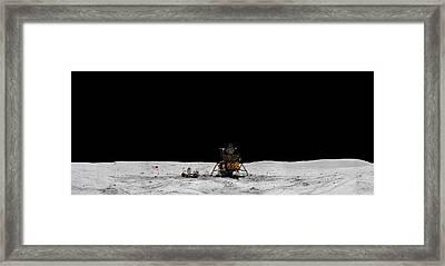 Apollo 16 Landing Site Panorama Framed Print