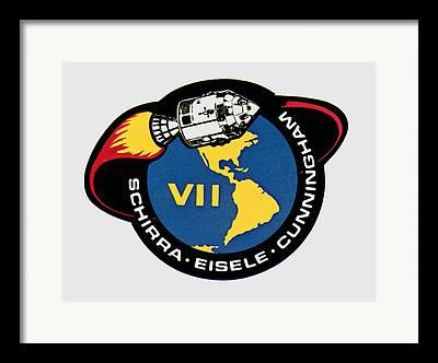 Human Spaceflight Missions Mixed Media Framed Prints
