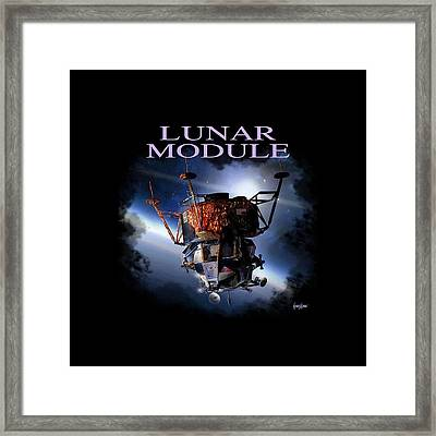 Apollo 9 Lm Framed Print