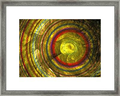 Apollo - Abstract Art Framed Print by Sipo Liimatainen