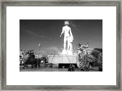 Apollo At Fontaine Du Soleil, Nizza, France Framed Print
