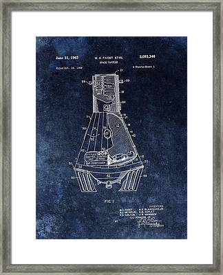 Apollo Command Module Patent Framed Print by Dan Sproul