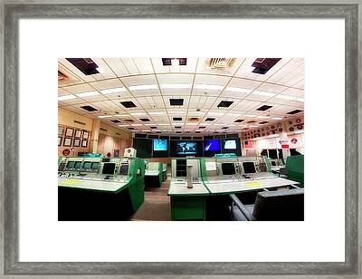 Framed Print featuring the photograph Apollo Mission Control - Space Center Houston - Nasa by Jason Politte