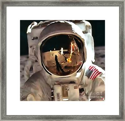 Apollo Moon Mission In Thick Paint 1 Framed Print by Catherine Lott