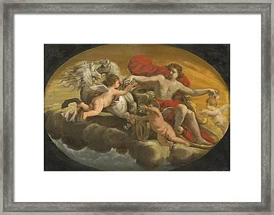 Apollo Framed Print by School of Carlo Cignani