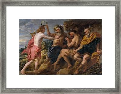 Apollo The Winner Framed Print by Jacob Jordaens