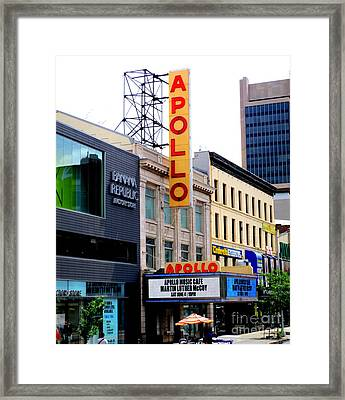 Framed Print featuring the photograph Apollo Theater by Randall Weidner