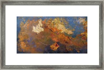 Apollo's Chariot Framed Print by Odilon Redon