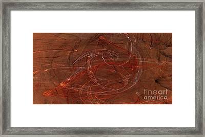 Apophysis Fractal Flame Color Art Print Framed Print by Randy Steele